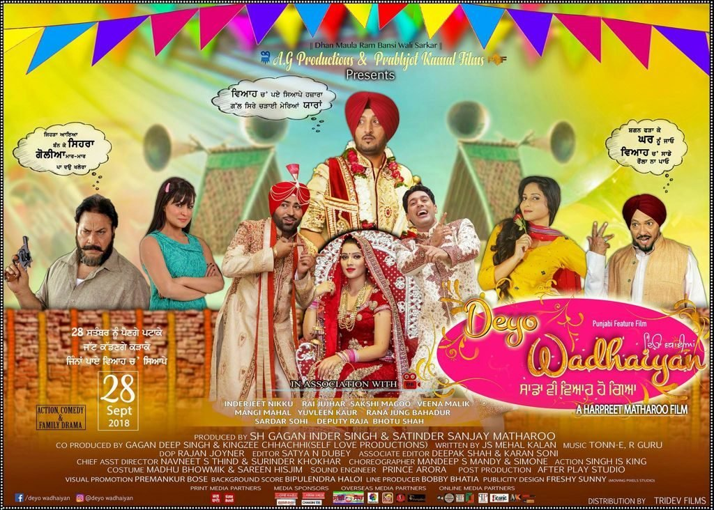 Deyo Wadhaiyan Punjabi Movie Full Star Cast & Crew, Songs, Story, Release Date, Wiki: Indejit nikku, Rai Jujhar
